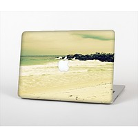 """The Vintage Subtle Yellow Beach Scene Skin Set for the Apple MacBook Air 11"""""""