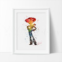 Jessie, Toy Story Watercolor Art Print
