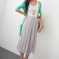 Free Belt! Flare Long Skirt - Mexy  - New fashion clothing & accessories for smaller size women like you - Mexy Shop