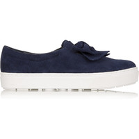 Finds - + F-Troupe bow-embellished suede slip-on sneakers