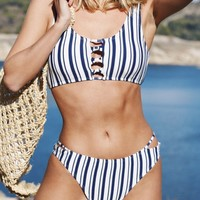Cupshe Popular Ballad Stripe Bikini Set