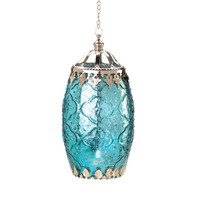 Aquamarine Filigree Lantern