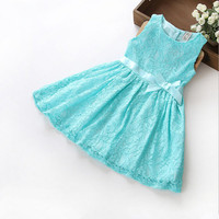 Girls Layered Lace Princess Dress in 3 Diff Colors