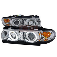 Bmw  95-02 Bmw  E38  Prjector Headlights Chrome Housing Day Light Ring