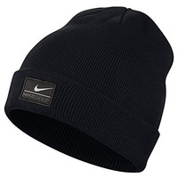 Nike Unisex Basic Knitted Winter Beanie Hat (One Size) (Black)
