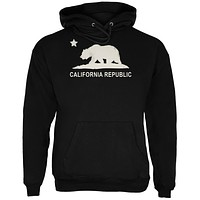 California Republic Black Adult Hoodie