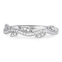 Museum 2.1TCW Russian Lab Diamond Floral Wedding Band Ring