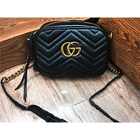 Gucci Hot Selling Women's Fashion Double G Wave Skew Pack Shopping Bag #4