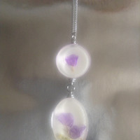 Pressed Drop Flowers Necklace
