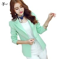 Women Blazers Blue and Mint Green Color Fashion and Simple Business Wear Or  Casual Outwear YMW-1134