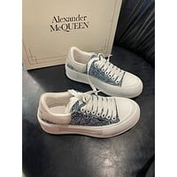 Alexander McQueen  Fashion Men Women's Casual Running Sport Shoes Sneakers Slipper Sandals High Heels Shoes0402gh