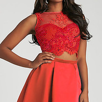 Madison James Two Piece Short Homecoming Dress