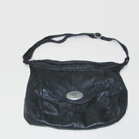 "Ladies Leather Bag ""Kalvin Klein"" / Black Leather Bag / Handbags 100% Leather / Bag Every Day / Gift Idea for a Woman / Leather Bag"