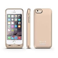 Press Play Ultra Slim Extended Battery Backup Case for iPhone 6 - Gold - BLINQ
