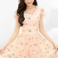Cute Floral Embroidered Organza Dress