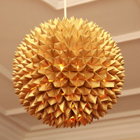 Gold Star - Hand crafted Paper Origami Chinese Lanterns ceiling Lampshades