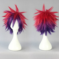 Cosplay Costume Wig No Game No Life 30cm multi color cosplay wig,Colorful Candy Colored synthetic Hair Extension Hair piece 1pcs WIG-558A