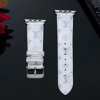 New 2019 LV Mini Monogram Apple Watch Band - White & Grey
