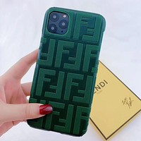 Fendi FF Apple xsmax mobile phone case Europe and America iPhonex high-end xr xsmax men and women 8plus  1