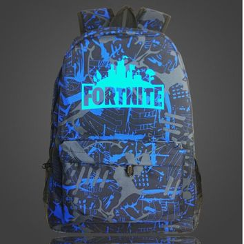 New Arrival Luminous BackpacGame Fortnite Backpack School Bags 13 Color