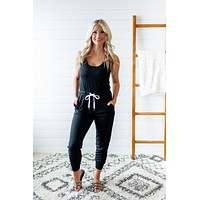 Step Up Your Game Jumpsuit (Black)