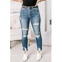 Rise Above High Waisted Straight Leg Jeans