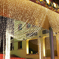 L3m xH 3m/6m 300-600 Christmas Led Lights Outdoor Indoor Home Decorative String Fairy Curtain Lights For Garden Wedding Xmas CL7
