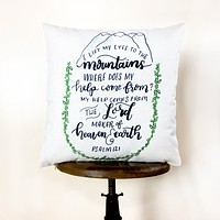 Trust in the Lord | Pillow Cover | Psalm 121 | Serve the Lord | 18 x 18 | Throw Pillow | Home Decor