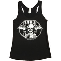 Avenged Sevenfold Women's  Est. 99 Batskull Womens Tank Black Rockabilia