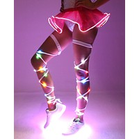 White Light Up Leg Wraps