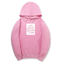 Fashion Anti Social Club Pink Sweaters Pullovers Hoodies