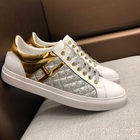 Hermes 2019 new high-end fashion men's wild sports shoes White