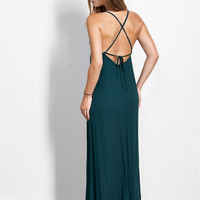 Low Back Strappy Maxi Dress