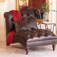 Heirloom Half-Time Chaise Lounge - Heirloom Leather - Collections - Furniture - NapaStyle