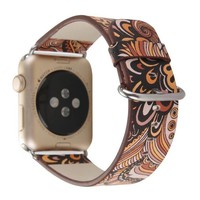 National Style Design strap For Apple Watch Band leather 38/42mm Series 1/2