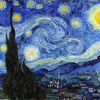The Starry Night Vincent Van Gogh 1889 Classic Art Print