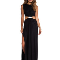 Cut25 by Yigal Azrouel Modal Cut Out Gown in Black