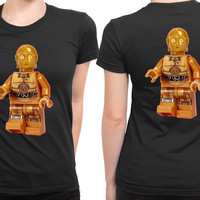 Star Wars See Threepio 2 Sided Womens T Shirt