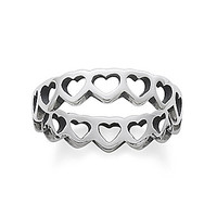 James Avery Tiny Hearts Band Ring - Sterling Silver 5