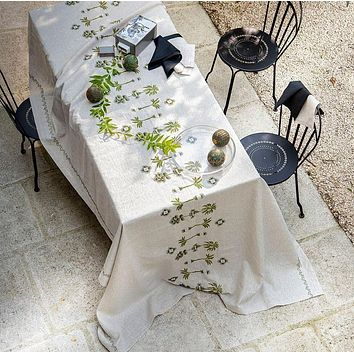 Barbade Natural Tablecloth by Alexandre Turpault