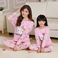 Hello Kitty Family Pajamas Sets