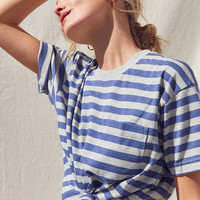 Vintage Striped Oversized Tee | Urban Outfitters