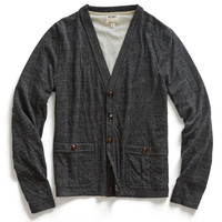 Charcoal Double Faced Cardigan