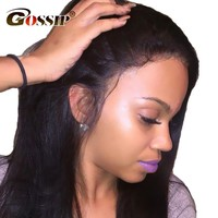 Lace Front Human Hair With Baby Hair Peruvian Straight Lace
