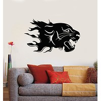 Vinyl Wall Decal Abstract Animal Predator Leopard Big Cat Head Stickers Mural (g3597)