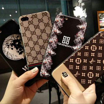LV and GIVENCHY and Gucci and YSL:print phone shell phone case for Iphone 6/6S/6P/6SP/7P/7/8/8P/X