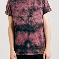Black And Pink Washed T-Shirt