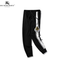 Burberry New fashion embroidery letter couple pants Black