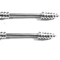 Nipple Ring Screw bar body Jewelry Sold as a pair