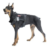 OneTigris Dog Harness Vest for Walking Hiking Hunting Tactical Military Waterproof MOLLE Training Harness for Service Dog 1000D